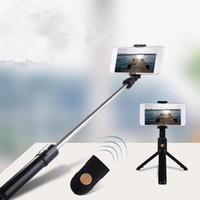 ترايبود الجديد K07 Bluetooth الإصدار الفولاذ المقاوم للصدأ دمج الصور الشخصية للعصا الهاتف المحمول منظار أفقي العمودي الحية عصا صورة شخصية واسعة