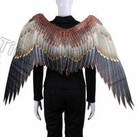 новый Марди Гра большой орел крылья костюмы нетканые ткани темные крылья взрослый Хэллоуин карнавал маскарадный костюм бал Party SuppliesT2I5329