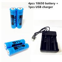 4шт GTL 18650 3.7 v 12000mAH литиевая батарея + 1 шт USB зарядное устройство . зарядное устройство для 26650 18650 18350 18500 14500 16340 chahge