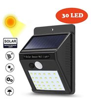 30 LED Solar Wall Motion Sensor Light High Lumen Solar Garde...