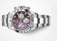 진주 다이아몬드의 최고 남성 자동 시계 크로노 그래프 시계 Cal.4130 화이트 브라운 어머니 116509 남성 에타 COSMOGRAPH 스포츠 손목 시계 다이얼