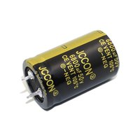JCCON boynuz alüminyum elektrolitik kapasitör 50v6800uf hacmi 25x40 ses amplifikatörü, ses
