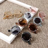 7COULEURS Métal Bee Kids Lunettes de soleil garçon fille lunettes de soleil de luxe vintage lunettes de soleil rondes Oculos Feminino Accessoires gros BJY849