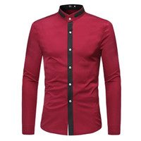 Long Sleeve Classic Shirt Mens Dress Shirts Slim Fit Tops Co...