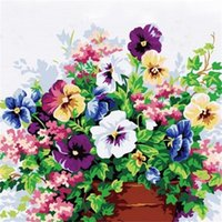 Diy Oil Painting Flower In Vase Painting By Numbers Paint Fl...