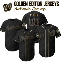 Washington Custom Trea Turner Jersey Nacionales Edición de oro Jerseys Adam Eaton Anthony Rendon Ryan Zimmerman Matt Adams Juan Soto