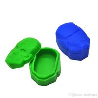 Un soporte para vasos aceite de la caja de almacenamiento de herramientas Dab silicón de la caja de colores 15ML antiadherente Cera Contenedor de la categoría alimenticia de los tarros para vaporizador de Vape