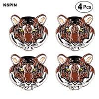 Tiger lapela o emblema do Pin Broche Ícones 4PC