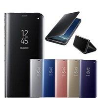 لون بلس 8Pro حالة الذكية مرآة الهاتف القضية لون بلس 8 رؤية واضحة ورقي حقيبة جلد للحصول ون بلس 7T برو