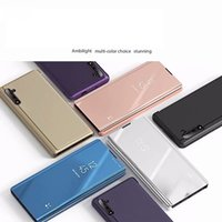 Espelho galvanizado Flip Stand Case Para Samsung Galaxy Note 10 Note10 Plus S10E S10 S9 S8 S7 S6 Edge J7 Pro Note5 9