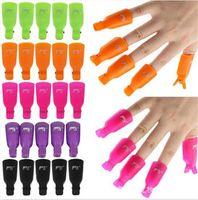 500 satz 10 teile / satz Kunststoff Nail art Tränken Weg Kappe Clip UV Gel Polish Remover Wrap Werkzeug Nail art Tipps Für Finger X161