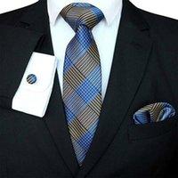 100٪ الحرير التعادل سليم العلاقات رجل تضييق نطاق الأعمال الرجال جاكار نسج ربطة العنق مجموعة