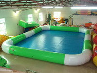 Inflatable Pool Waterball Arena Bouncer High Quality Commercial PVC 6x8m Football Walking Ball Pools Express Delivery Free Pump