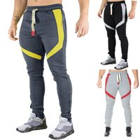 Joggers atletik GYM Fitness çalışma dışarı erkek pantolon Pantalones Mens Spor Yeni 19ss