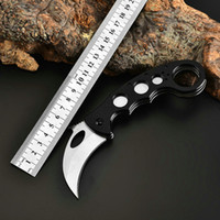 D2 접이식 칼 Karambit CS가 야외 캠핑 도구 톱니 모양의 잭 나이프 전술 군사 세이버 사냥 서바이벌 포켓 나이프 G10 손잡이 EDC 자기 방어 도구