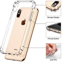 Antichocs Etui en silicone pour iPhone 6 6s 7 8 plus Clear Case transparent pour iPhone 11 Pro 2019 X XS XR Max cas pour Samsung Note 10 Plus