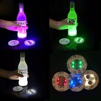 Luzes Garrafa de vinho, 6 LEDs Etiqueta Coaster Discos Luzes para Garrafa de Vinho, Garrafa de Licor, ou outra Decoração de Vidro Claro para o Partido
