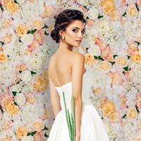 40x60cm 12 ألوان الحرير روز زهرة جدار الزفاف الديكور خلفية الاصطناعي زهرة زهرة جدار رومانسية ديكور الزفاف