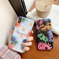 Retro Flower Suitcase TPU Silicone Phone Case Suitcase Tronco TPU contraportada para iPhone Xs Max iPhonexsmax / 7 / 8plus