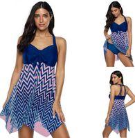 2020 mujeres del diseño de los deportes grandes, más delgados con split tipo de la falda de malla grande yakuda tipo de la falda del traje de baño con estilo Bikinis conjuntos de damas flexible de la muchacha
