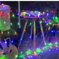 أدى ضوء سلسلة صافي المنزل والحديقة التلفزيون جدار Backgroun تزيين 1.5x1.5M 2x2M 3x2M 6x4M 8M * 10M النجوم حفل زفاف جارلاند مصباح