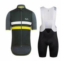 2019 Yeni Rapha Bisiklet Giyim Erkekler Yaz Bisiklet Açık Spor Bisiklet Jersey Bisiklet Bib Şort Set Yarış Bisiklet Giysileri Y021602