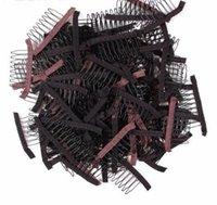 10 pçs / lote peruca pentes grampos de cabelo para tecer extensões preto marrom cor 6 8 dentes de costura grampos ferramentas à venda