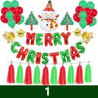 لوازم عيد الميلاد فولي البالونات ثلج الألومنيوم احباط بالونات الهليوم مجموعة بالونات عيد ميلاد الديكور عيد الميلاد حزب بالون الهواء لعب الاطفال