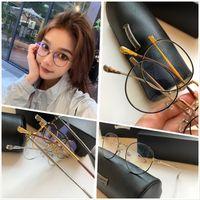 نظارات بالجملة خمر النظارات البصرية مصمم الأزياء الجديدة الرجعية النظارات إطارات معدنية شفافة عدسة خمر النظارات واضحة الكلاسيكية