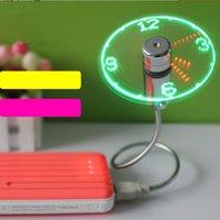 Mini en tiempo flexible del LED del ventilador del reloj Venta caliente ajustable escritorio de oficina flexible Gadget USB con luz LED envío