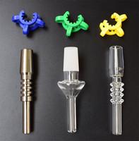 10mm 14mm 18mm ponta de quartzo ponta de titânio para mini nc kits com plástico livre clips keck quartz banger prego titanium prego