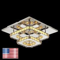 Lampadario di cristallo moderna del soffitto le luci a LED USA magazzino Consegna Living Room Hotel Crystal Piazza Lampada a soffitto Lampada Bright Crystal