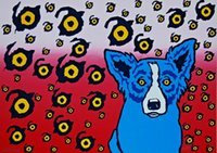 George Rodrigue Blue Dog I See You Home Decor Handpainted &H...