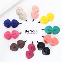 Çocuklar Bow Saç Klipler Şeker Renk Bebek Kız Bow Firkete Kurbağa Tatlı Çocuk Tokalarım Designer Katı Renk Hairbow Aksesuarları HHAA909 Klip