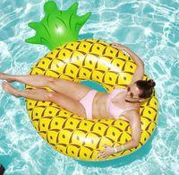 Dev şişme yüzmeye halka yüzer havuz koltuk halkaları yüzmek yetişkin su sporları plaj oyuncak yüzen ananas tembel kanepe koltuk