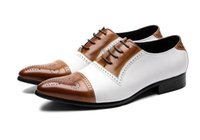 Fashion Patchwork Carved Men Oxford Shoes Leather Men Dress ...