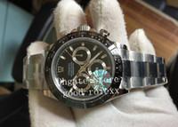 Üst erkek Chronograph Saatı Erkek Otomatik Cal.4130 İzle Erkekler Çelik Seramik Çerçeve Spor 116500 Cosmograph JH Dalış Saatler Kronometre