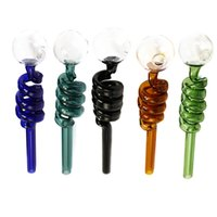 Wholesale Glass Oil Burner Pipe Colored Helical Tube Glass H...