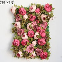 Silk Peony Flower wall rose vine Luxury Artificial Flowers w...