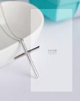 collana all'ingrosso di alta qualità S925 argento per le donne puro gioielli accessori pendenti della traversa di modo