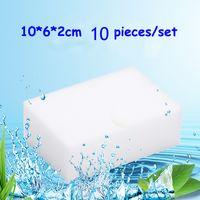 10pc / torba Melamin Sünger Magic Sponge Silgi Silgi Temizleyici Temizlik Süngerleri Mutfak Banyo Temizleme Araçları için 10 * 6 * 2