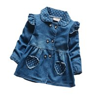good qulaity Girls Denim Jackets Baby Outerwear Jackets For ...