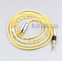 Sennheiser HD700 LN006503 için 3,5 mm 2.5mm 4.4mm XLR 8 Çekirdekler% 99.99 Saf Gümüş + Altın Kaplama Kulaklık Kablo