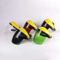 Tattico Guardia Full Face cappuccio di sicurezza di saldatura Anti Splash Protective Mask Portabe decespugliatore saldatura casco strumento Head-mounted Hat