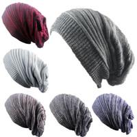 Inverno Trendy caldo cappello sciarpa Slouchy Beanie sciarpa in pile capo avvolge Baggy Warm Crochet Inverno LANA sci esterno donne degli uomini