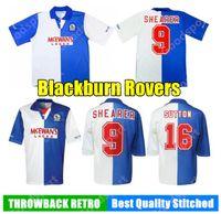 الرجعية 1994 1995 Blackburn Rovers Soccer Jerseys 94 95 Calcio Football Shirt Hendry Sherwood Sherrer Newell Wilcox Sutton Berg 20