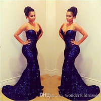 royal blue prom evening dress 2017 sexy long sequin sparkly ...