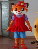 2018 Discount factory sale Red fox Mascot Costume Adult Size...