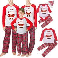 Mère et fille vêtements famille correspondant pyjamas de noël enfants garçons filles noël ensembles définit les femmes habillent dames hommes vêtements à la maison QZZW124