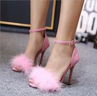 sexy scarpe da donna vestito vestito rosa scarpe primavera e autunno estate delle donne femminili sezione sottile tacchi alti delle donne calde di modo di vendita-Nuovo